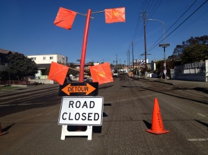 Virgil closed for repaving--Is this the start of the promised new bike lanes?