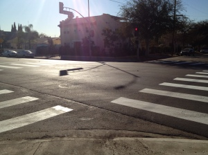 Continental crosswalks at Virgil and Lexington