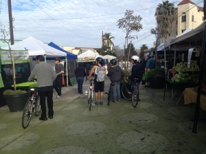Silverlake's Farmers' Market always attracts cyclists