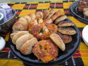 Jalapeño Cheddar bagels are the stars of this assortment