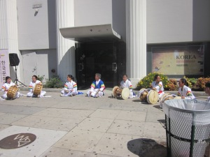 Korean drum circle. You couldn't keep still listening to them. Everyone was bobbing their heads or stamping their feet.