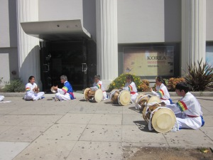 Korean drummers set the tone for an exciting CicLAvia. We were amped up after their drumming ended.