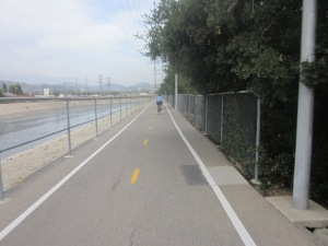 Start of the LA River Trail